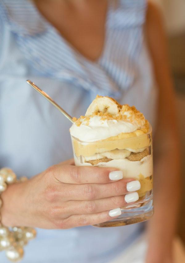 Skinny Peanut Butter Banana Pudding Trifle